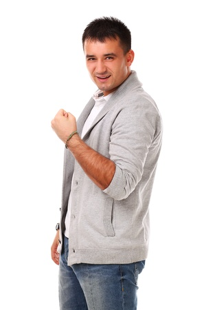 Young caucasian handsome man isolated over white background Stock Photo - 17133261