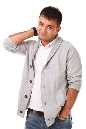 Young caucasian handsome man isolated over white background Stock Photo - 17133254