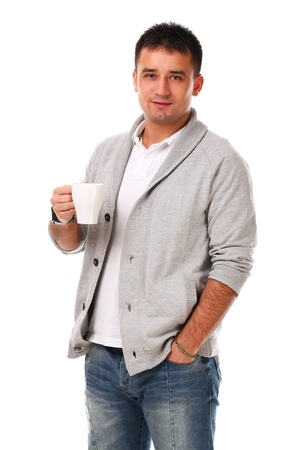 Young caucasian handsome man isolated over white background Stock Photo - 17133236