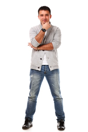 Young caucasian handsome man isolated over white background Stock Photo - 17093229