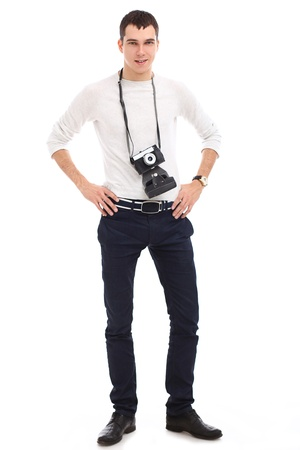 Young handsome photographer in studio Stock Photo - 17482639