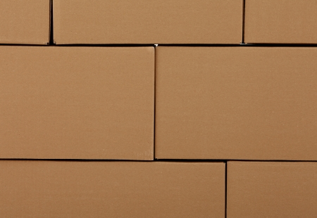Surface of cardboard boxes photo