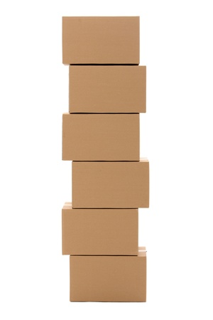 product box: Cardboard boxes isolated over white background