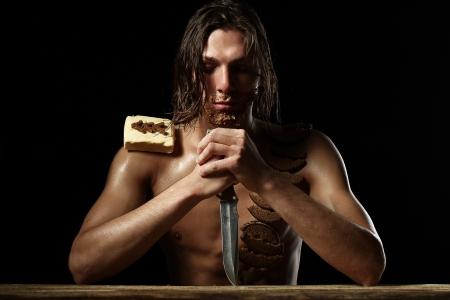 a hungry man photo