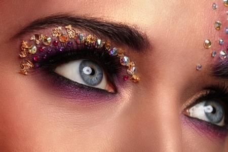 fantasy woman: beautiful set of eyes Stock Photo