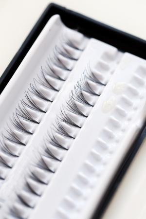 Eyelashes in box photo
