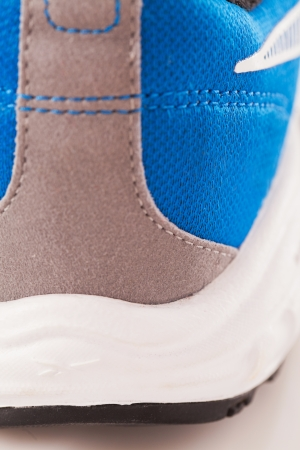 A closeup photo of sport trainers photo