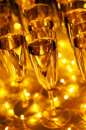 champagne celebration: Every celebration party follows with drinks and champagne Stock Photo