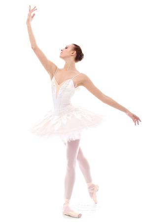 Gorgeous ballerina in action photo