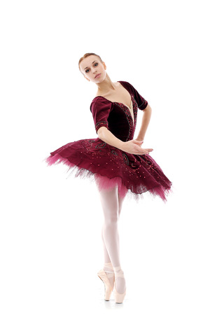 Prachtige ballerina in actie Stockfoto