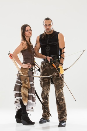 Young couple has some dangerous hobby photo