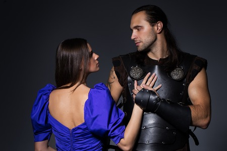 Beautiful defender and attractive princess photo
