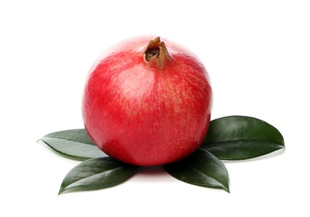Delicious, exotic pomegranate fruit on white  photo