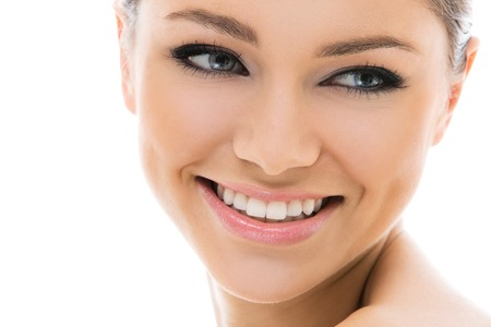 Beautiful, attractive woman with gorgeous face Stock Photo