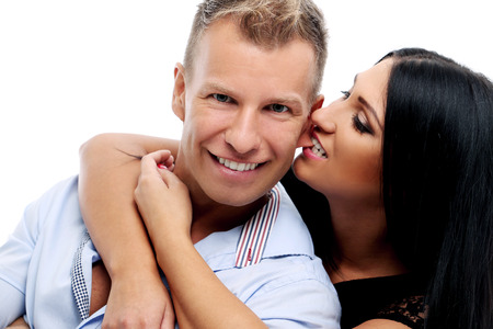 Hot and sexy couple having a photo session in studio Stock Photo - 25879217