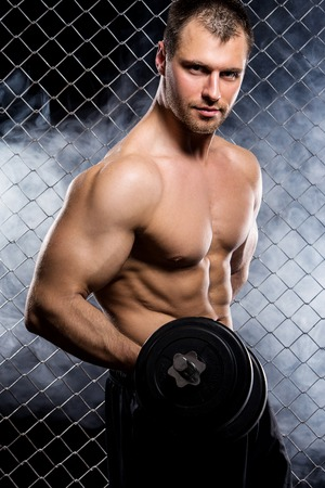 Perfect body man is showing his perfect body Stock Photo - 25879097