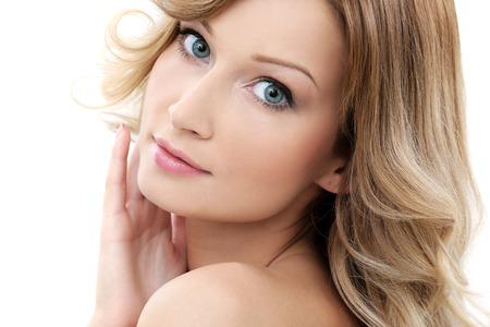 beautiful skin: Cute girl with perfect skin and beautiful face