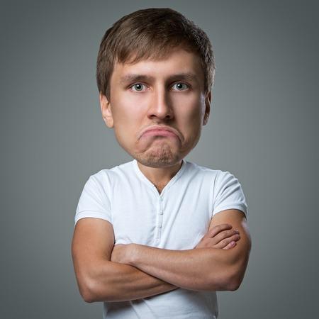 caras de emociones: El hombre hace un mont�n de cara las emociones locas