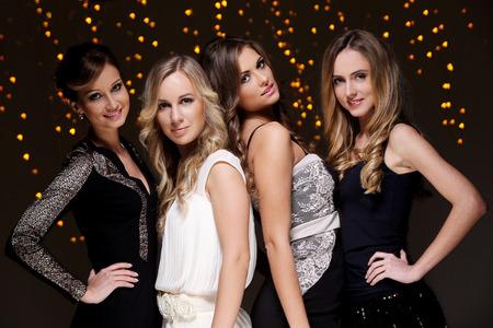 celebration party: Girls have a new year party celebration Stock Photo