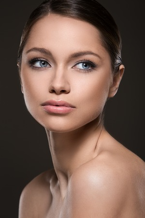 Cute woman with beautiful face Stock Photo