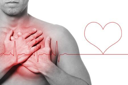Guy has heart attack photo