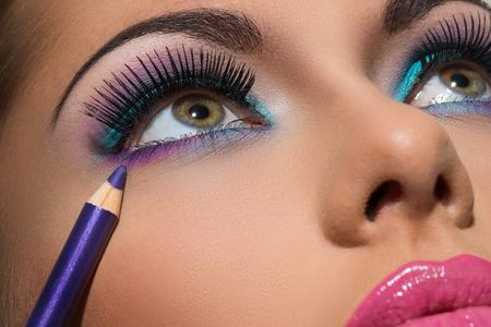 Face  Beautiful, colorful makeup