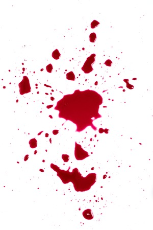 die cut:   Red blood isolated on white
