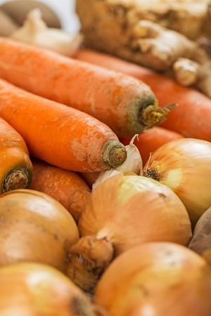 celery root: Garlic, carrots, potatoes, ginger and celery root