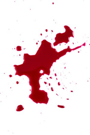 carnage:   Red blood isolated on white