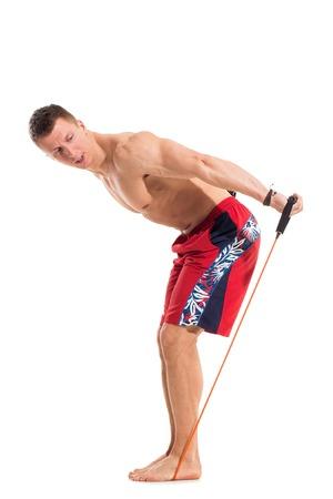 expander: Bodybuilding  Attractive man with expander