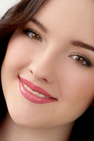 flat nose: Lifestyle  Cute woman with beautiful face