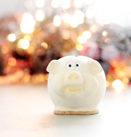 Finances, piggy  Money box on the table photo