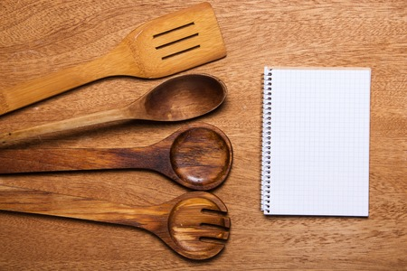 Kitchen  Wooden utensil on the table photo
