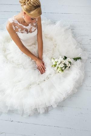 bridal bouquet: Wedding  Attractive bride with bouquet