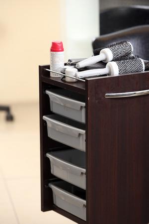 nightstand: Hairdresser salon  Nightstand with shelves