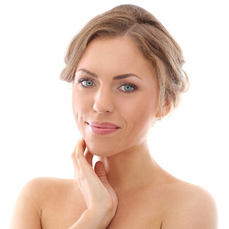 Attractive, cute woman with beautiful face Stock Photo