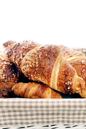 Yummy croissants on the table photo