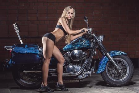 birthmark: Bike  Sexy girl with perfect body