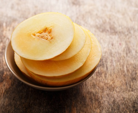 Food, fresh  Melon on the table photo