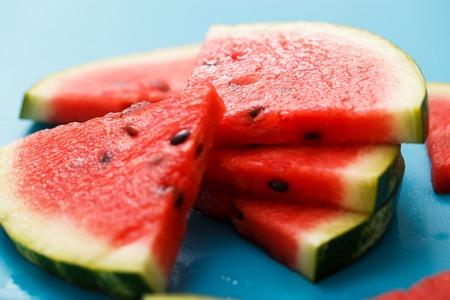 Food, fresh  Watermelon on the table photo
