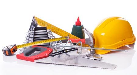 Workshop, repair. Tool set on the table photo