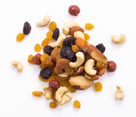 mixed nuts: Nuts mix on a white background