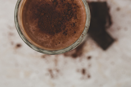 Delicious cocktail with chocolate powder photo