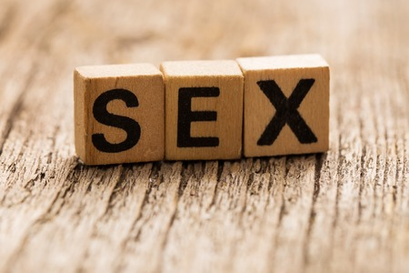 sex education: Toy bricks on the table