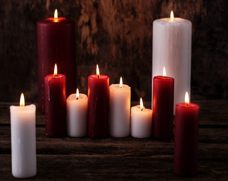 Candles on the table photo