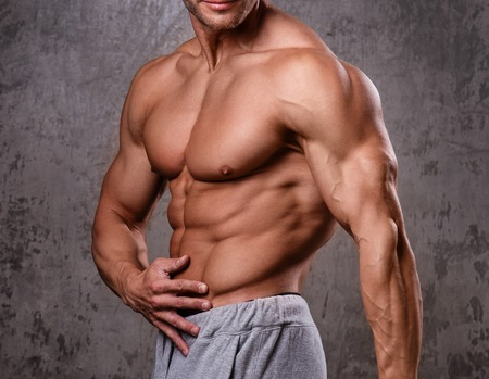 abdominal wall: Handsome man with perfect body
