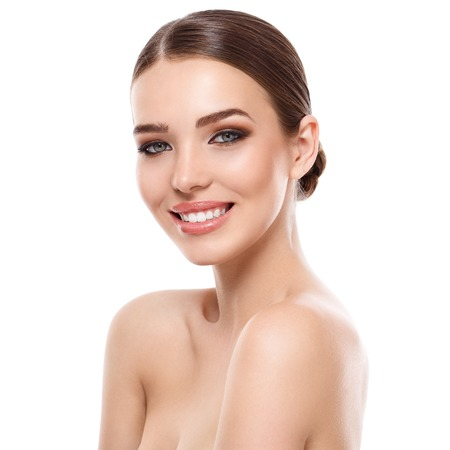 smile close up: Beauty, spa. Attractive woman with beautiful face