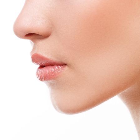 美容、スパ。詳細の唇 写真素材