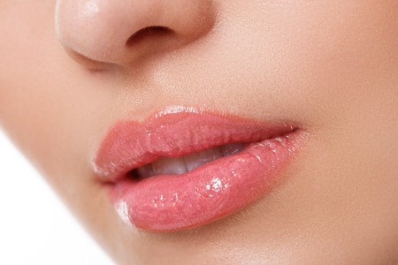 Beauty, spa. Lips in details photo