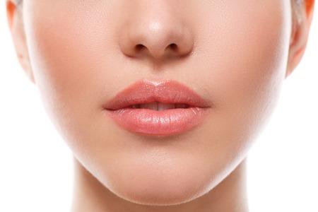 naturel: Beauté, spa. Lèvres dans les détails Banque d'images